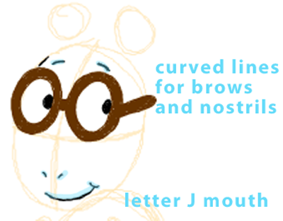Step 4 : Drawing Arthur from PBS's Arthur Easy Steps Lesson
