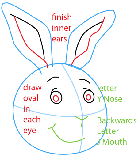Step 4 : Drawing Buster Baxter from PBS's Arthur Easy Steps Lesson