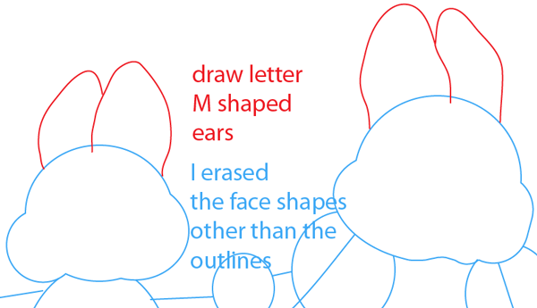 Step 4 : Drawing Max and Ruby from Max and Ruby Easy Steps Lesson