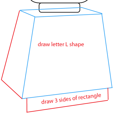 Step 4 : Drawing a Lego Minifigure Easy Steps Lesson