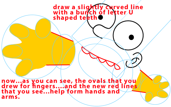 Step 5 : Drawing Bart Simpson Jumping from The Simpsons Easy Steps Lesson