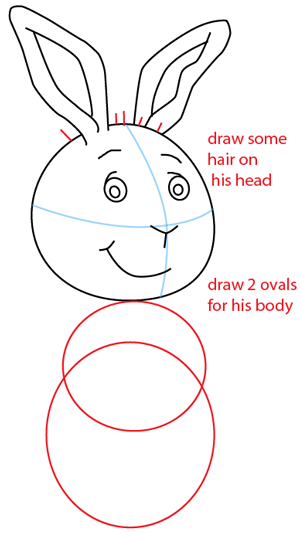 Step 5 : Drawing Buster Baxter from PBS's Arthur Easy Steps Lesson