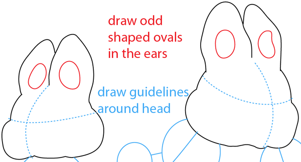 Step 5 : Drawing Max and Ruby from Max and Ruby Easy Steps Lesson