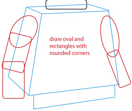 Step 5 : Drawing a Lego Minifigure Easy Steps Lesson