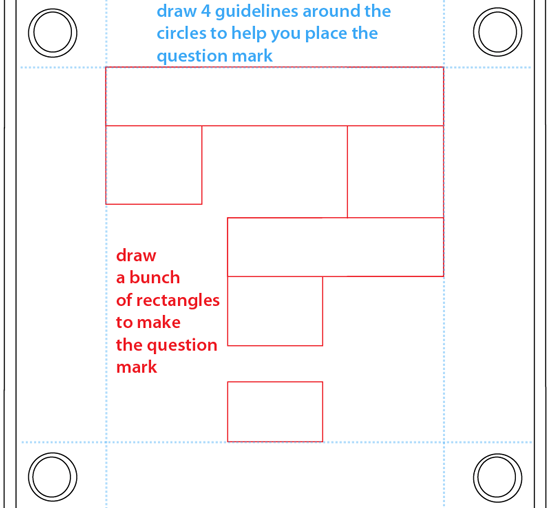 Step 5 : Drawing a Question Mark Box from Nintendo's Super Mario Bros. Easy Steps Lesson
