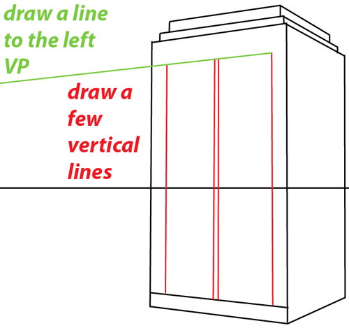Step 5 : Drawing TARDIS from Doctor Who Easy Steps Lesson