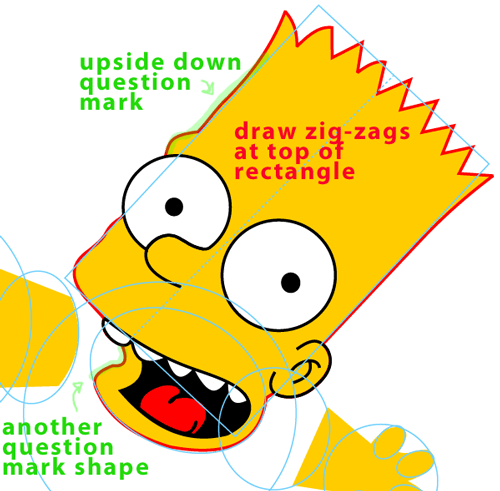 Step 7 : Drawing Bart Simpson Jumping from The Simpsons Easy Steps Lesson