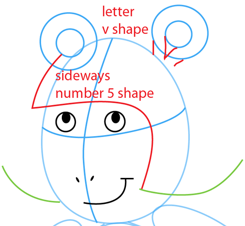 Step 7 : Drawing D.W. from PBS's Arthur Easy Steps Lesson