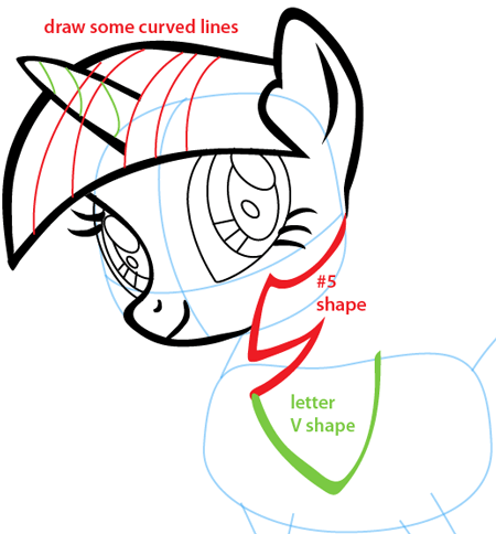 Step 7 : Drawing Twilight Sparkle from My Little Pony Easy Steps Lesson