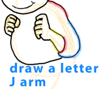 Step 8 : Drawing Arthur from PBS's Arthur Easy Steps Lesson