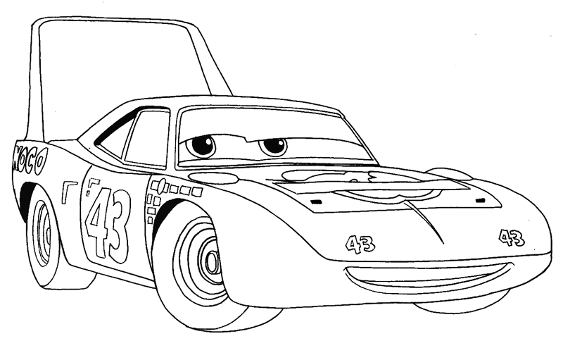 Step 8 : Drawing King from Pixar's Cars Easy Steps Lesson