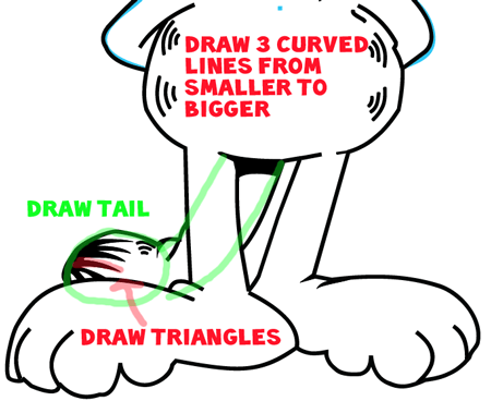 Step 8 : Drawing Garfield from The Garfield Show Easy Steps Lesson