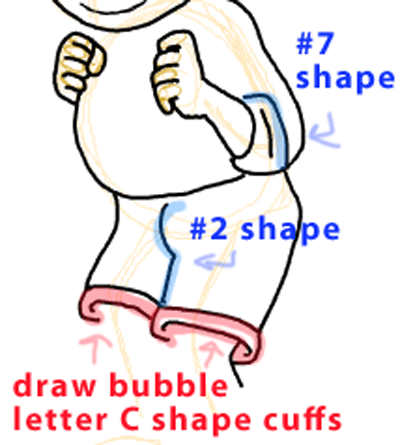 Step 9 : Drawing Arthur from PBS's Arthur Easy Steps Lesson