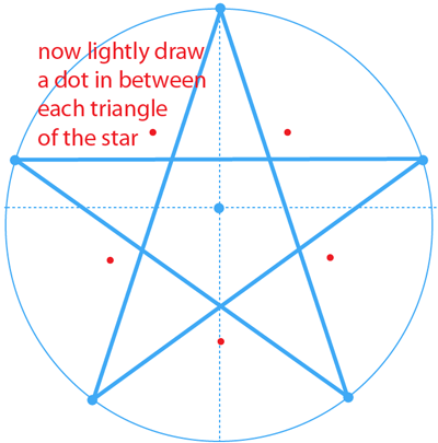 Step 9 : Drawing the Star from Nintendo's Super Mario Bros. Easy Steps Lesson
