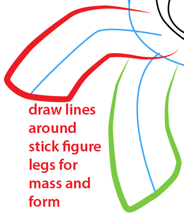 Step 9 : Drawing Rainbow Dash from My Little Pony Easy Steps Lesson