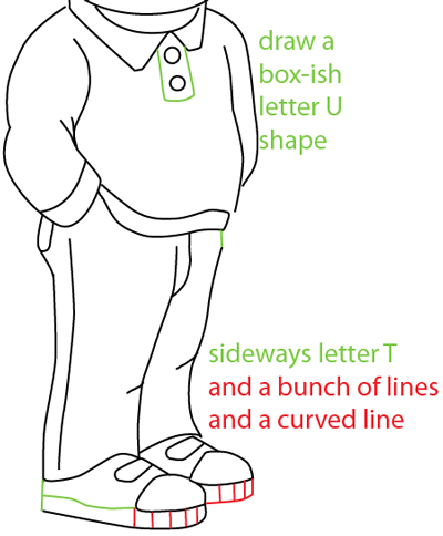 Step 10 : Drawing Buster Baxter from PBS's Arthur Easy Steps Lesson