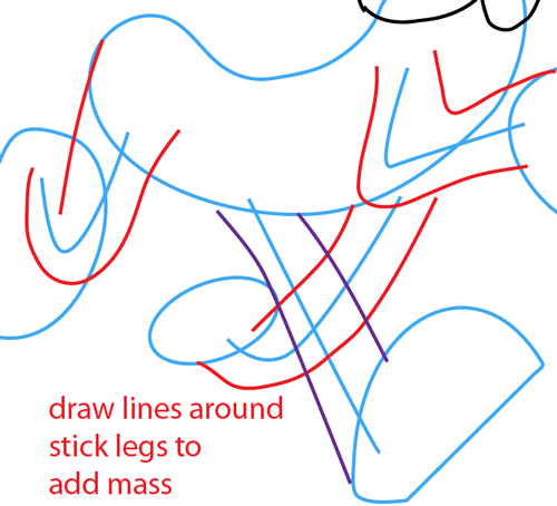 Step 10 : Drawing Disney's Pluto Easy Steps Lesson