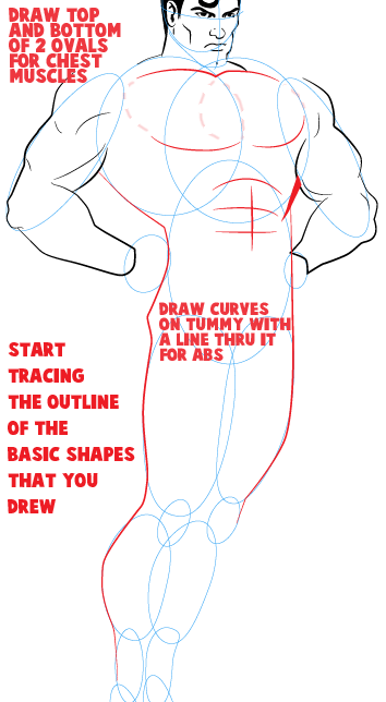 Step 10 : Drawing Superman Easy Steps Lesson