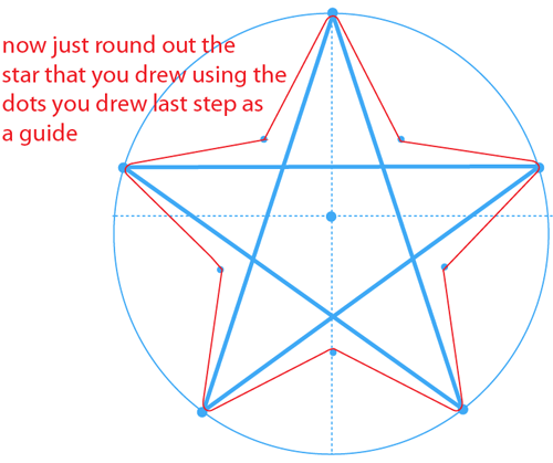 Step 10 : Drawing the Star from Nintendo's Super Mario Bros. Easy Steps Lesson