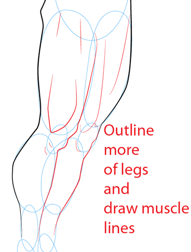 Step 11 : Drawing Superman Easy Steps Lesson