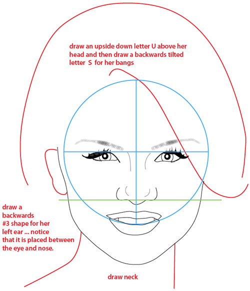 Step 11 : Drawing Selena Gomez from Wizards of Waverly Place Easy Steps Lesson