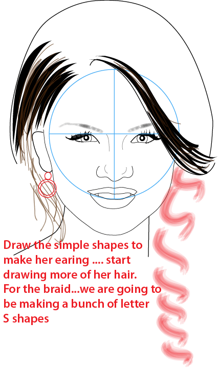 Step 12 : Drawing Selena Gomez from Wizards of Waverly Place Easy Steps Lesson