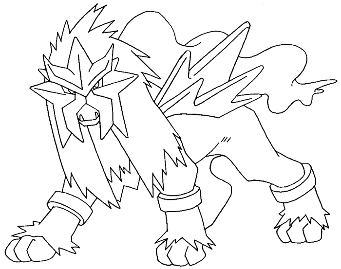 Step 13 : Drawing Entei from Pokemon Easy Steps Lesson