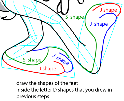 Step 13 : Drawing Bugs Bunny from Looney Tunes Easy Steps Lesson