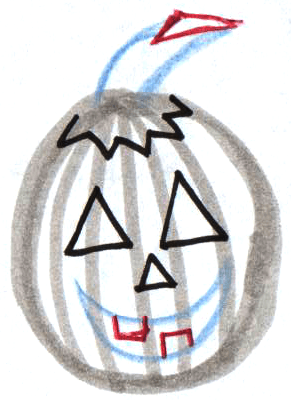 Step 6 : Drawing Jack O'Lanterns Easy Steps Lesson