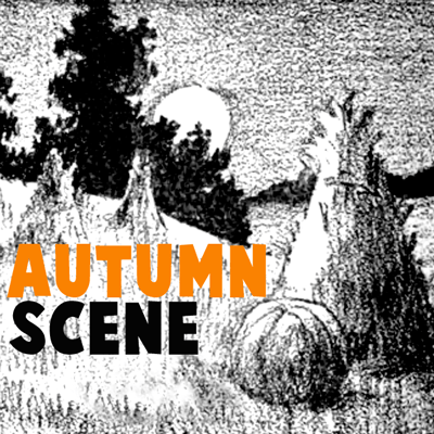 How to draw an Autumn Scene with easy step by step drawing tutorial
