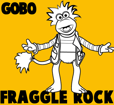 How to draw Gobo from Fraggle Rock with easy step by step drawing tutorial