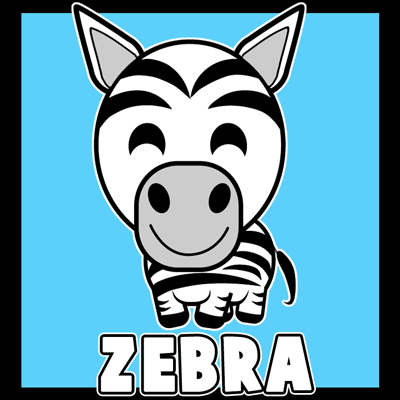How To Draw A Cartoon Zebra With Easy Step By Drawing Tutorial