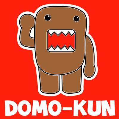 How to draw Domo-kun the Official Mascot of Japan's NHK Television Station with easy step by step drawing tutorial