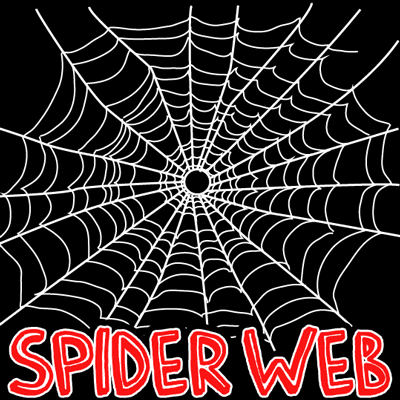 How to draw Spider Webs with easy step by step drawing tutorial