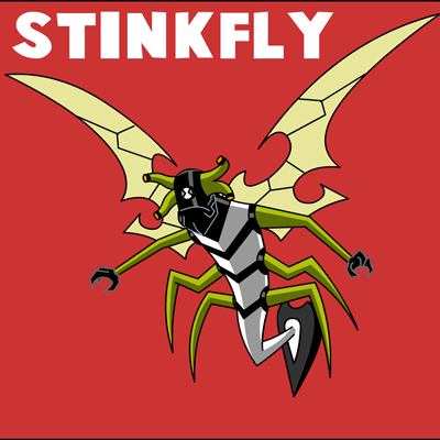 How to draw Stinkfly from Ben 10 with easy step by step drawing tutorial