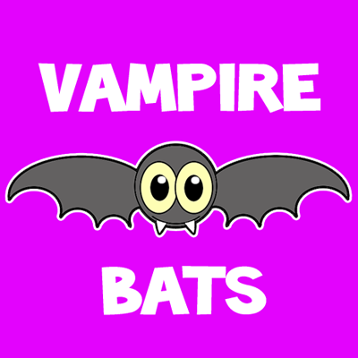 How to draw a Cartoon Vampire Bat with easy step by step drawing tutorial