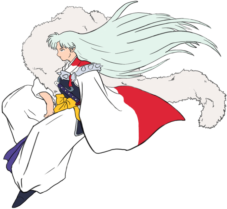 Step 8 : Drawing Sessohamaru from Inuyasha Easy Steps Lesson