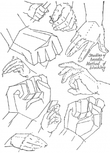 Techniques to Drawing Hands with Basic Shapes