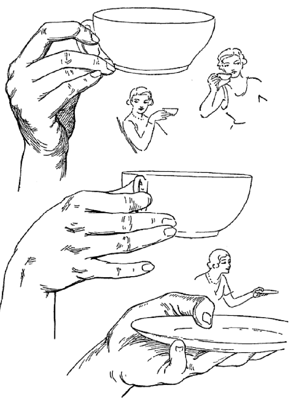 how to draw cupped hands step by step