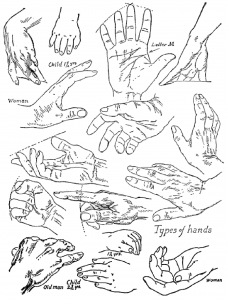 Drawing Hands in DIfferent Positions