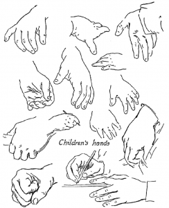 How to Draw Kids Hands