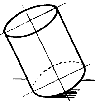 Example 4 : Drawing Cylinders and Drawing Shaded Cylindrical Objects with Cast Shadows Easy Steps Lesson