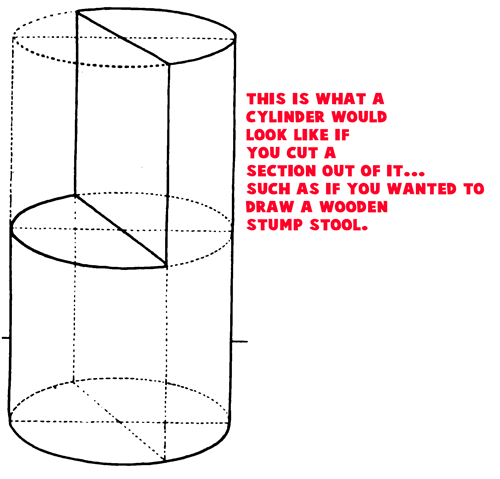 Example 5 : Drawing Cylinders and Drawing Shaded Cylindrical Objects with Cast Shadows Easy Steps Lesson