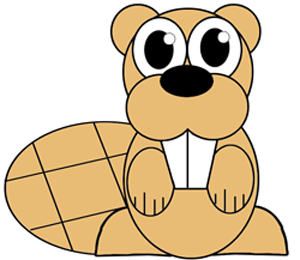 How to draw a Cartoon Beaver with easy step by step drawing tutorial