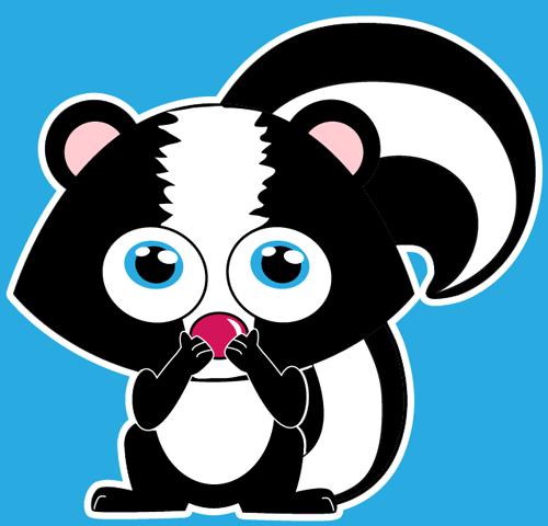How to draw a Cartoon Skunk with easy step by step drawing tutorial