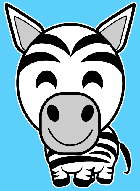 How to draw a Cartoon Zebra with easy step by step drawing tutorial