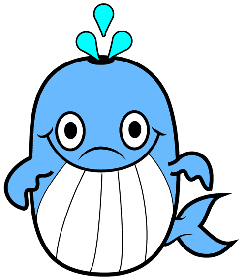 how to draw a cartoon whale with easy step by step drawing tutorial
