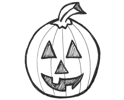 finished drawing - Draw Halloween Pumpkin