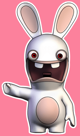 How to draw Rabbid from the game Rayman Raving Rabbids with easy step by step drawing tutorial