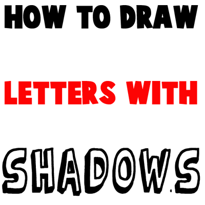 How To Draw 3D Letters With Shadows Following Patterns